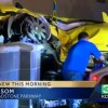 Street Racing Camaro Crashes into Starbucks
