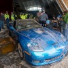 First Restored Sinkhole Corvette Stops Off at SEMA