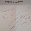 Jayson Werth Autographs Inmate Handbook for Fellow Jailbird