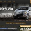 Enter Ford's Truckin' to Vegas Giveaway for a 2015 F-150 & Vegas Trip