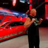 Living Embodiment of Terror Brock Lesnar Destroys Cadillac CTS