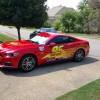 Memphis Dad Turns Mustang into Lightning McQueen