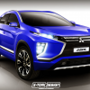Mitsubishi ASX Rendering Adds Touch of eX Concept Design