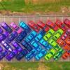 Georgian Car Club Creates the Rainbow with 76 Dodge Challengers