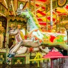 Driver Crashes BMW into Carousel Horse Sculpture