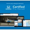 Honda Launches New Website for Certified Pre-Owned Vehicles
