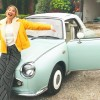 YouTuber Alfie Deyes Surprises Zoella with a Pastel Nissan Figaro for Their Five-Year Anniversary