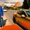 Ford of Denmark Provides Rides in a Golden Mustang for Elderly Relatives of Employees
