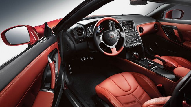 2016 Nissan GT-R Interior in Red Amber Leather | The News Wheel
