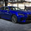 New Lexus Rx >> 2017 Lexus GS F blue sedan car on display Chicago Auto ...