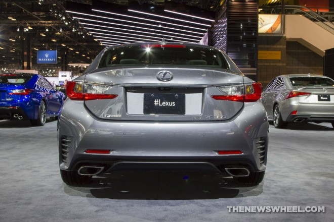 2017 lexus rc 350 f sport silver coupe car on display chicago auto show 4 the news wheel. Black Bedroom Furniture Sets. Home Design Ideas