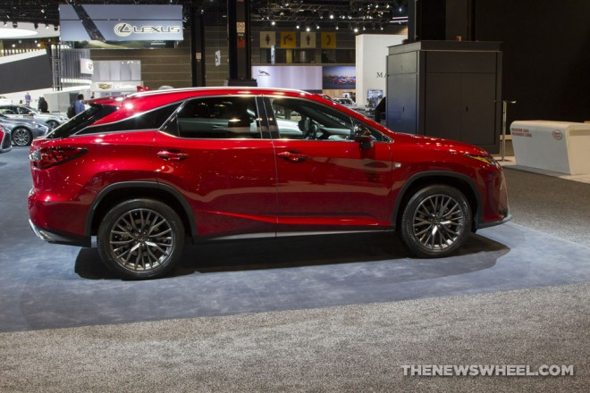 2017 lexus rx 300 f sport red suv on display chicago auto show 3 the news wheel. Black Bedroom Furniture Sets. Home Design Ideas