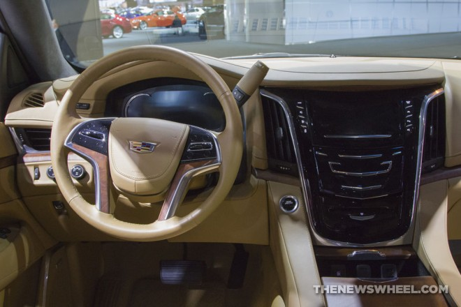 2017 Cadillac Escalade Platinum interior | The News Wheel