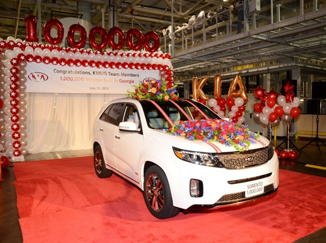 One millionth Kia built in America