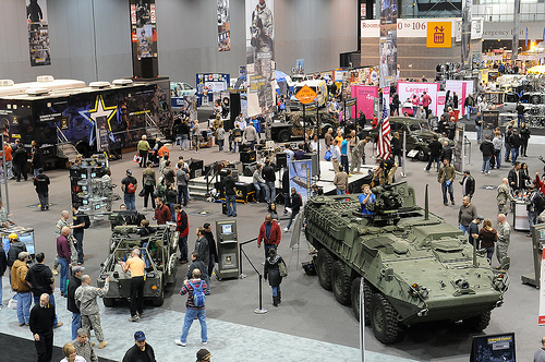 The U.S. Army at the Chicago Auto Show