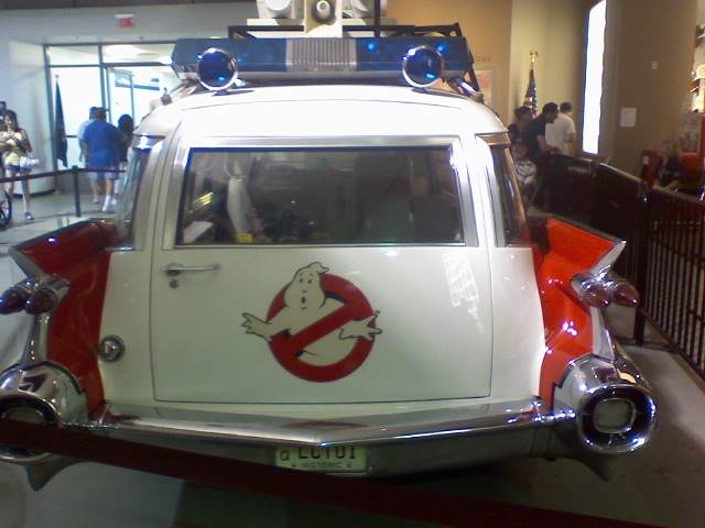 Back of the Ecto 1