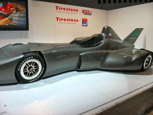 DeltaWing IndyCar Concept at the Chicago Auto Show Photo by benhinc