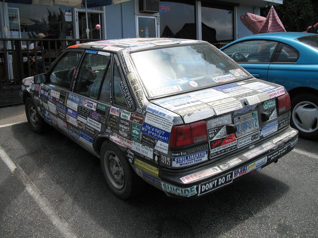 Remove a Bumper Sticker