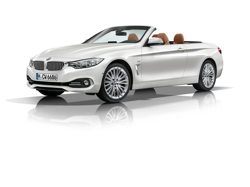 2014 BMW 4 Series Convertible at Los Angeles Auto Show Front Angle
