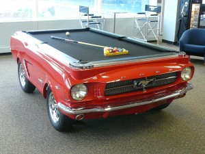 Interested in having a 1965 Ford Mustang Pool Table? You can get one!