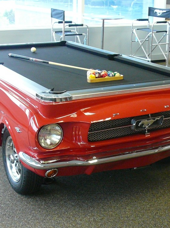 Lovely A Pony Car In Your Living Room U2013 The 1965 Ford Mustang Pool Table | The  News Wheel