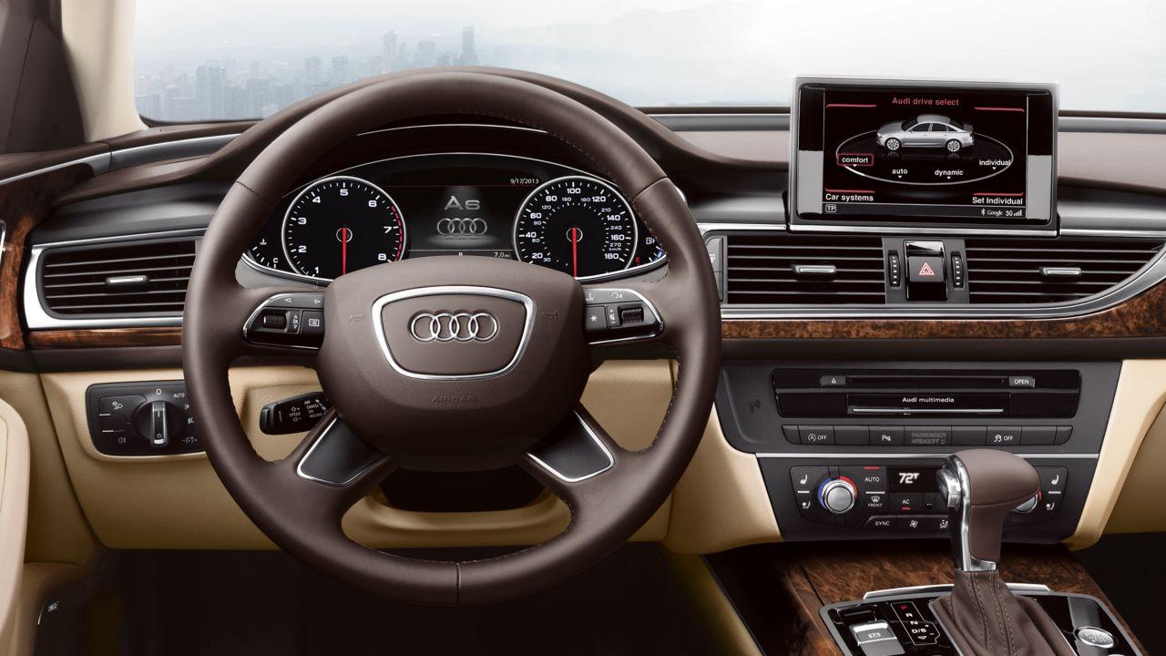 2014 Audi A6 Dark Brown Walnut Wood Inlays  The News Wheel