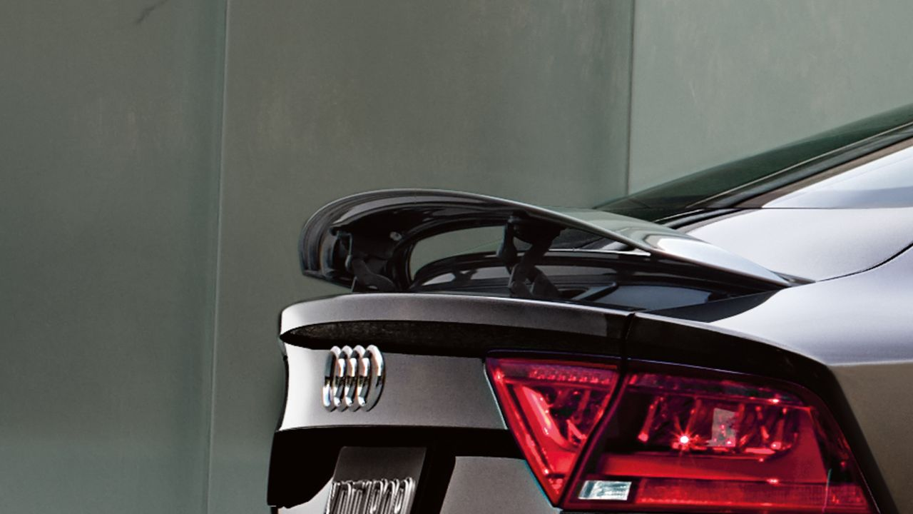 2014 audi a7 adaptive rear spoiler the news wheel. Black Bedroom Furniture Sets. Home Design Ideas