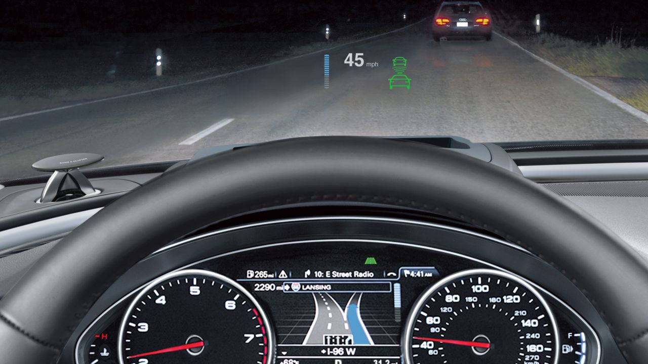 2014 audi a7 head up display the news wheel. Black Bedroom Furniture Sets. Home Design Ideas