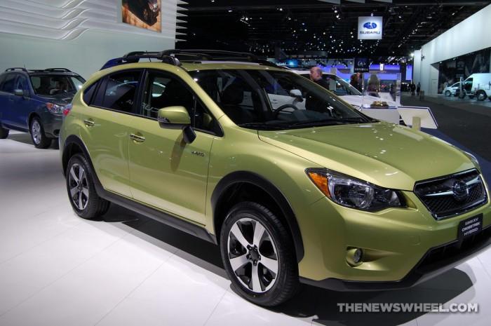The 2014 XV Crosstrek Hybrid, Subaru's entry into the hybrid market.