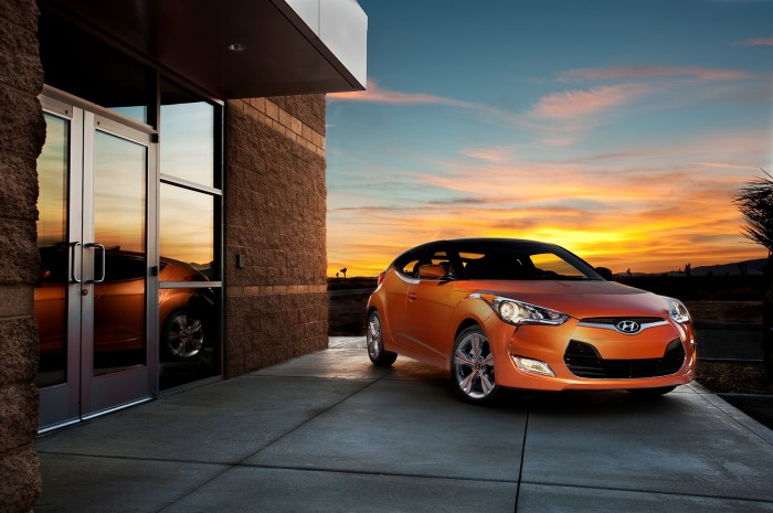 The Hyundai Veloster received the Polk Automotive Loyalty Award at the NAIAS.