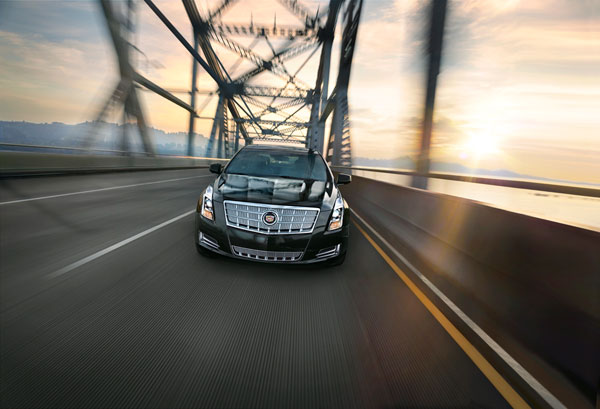 The 2015 Cadillac XTS sedan includes an eight-inch touchscreen that is used to control many of the XTS's functions.