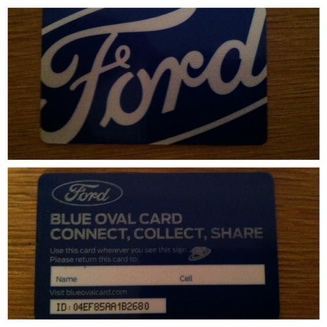 Ford NAIAS display: card