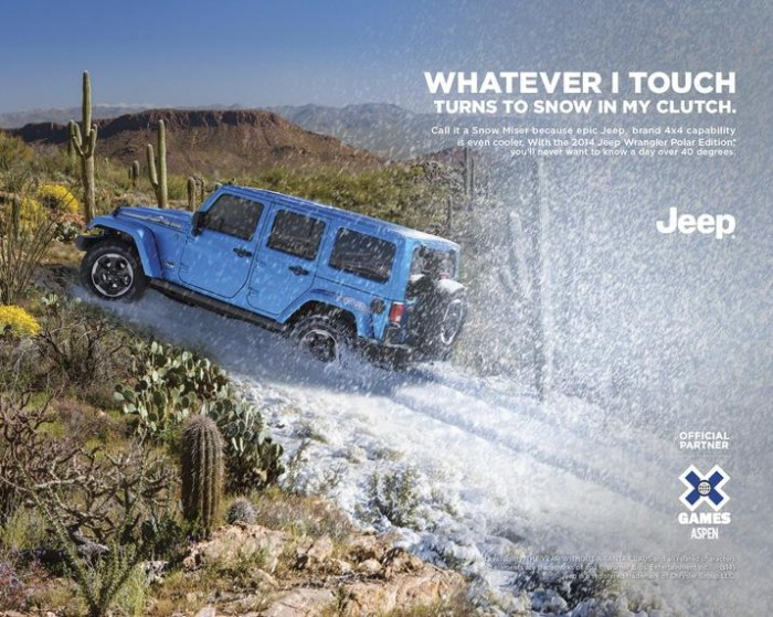 2014 Jeep 174 Wrangler Polar Edition Ad Debuts During X Games
