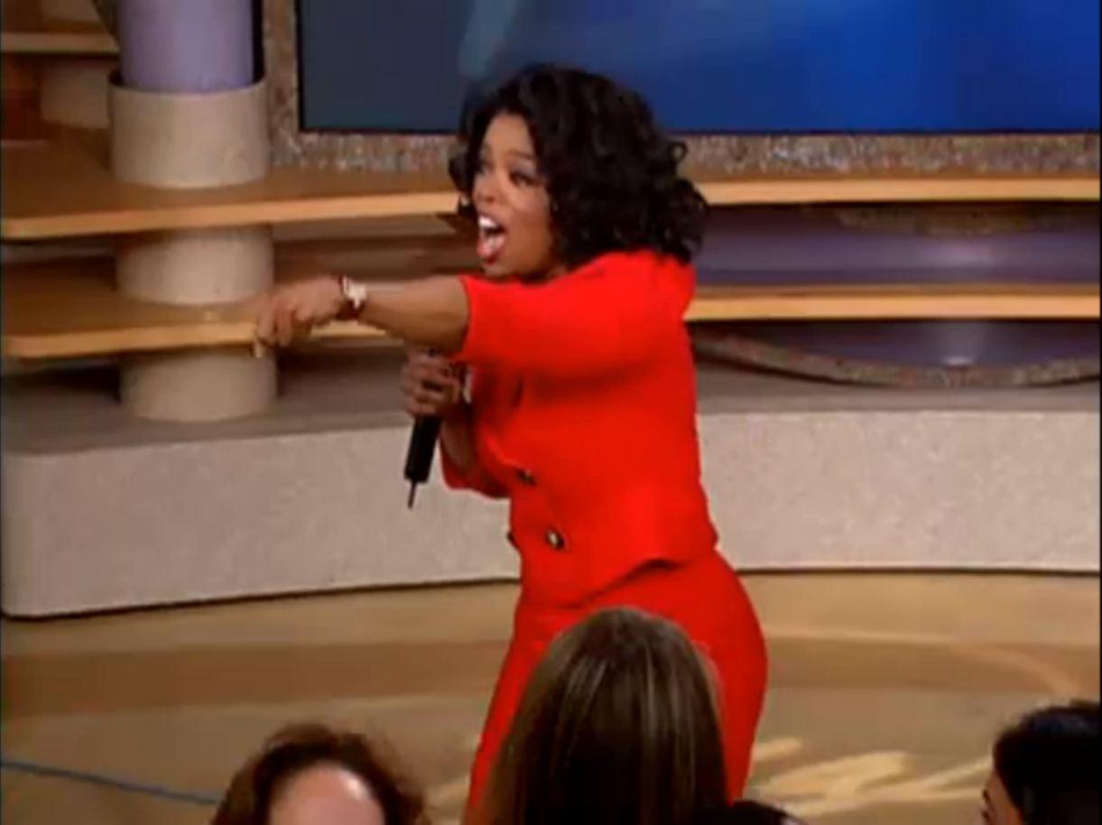 Oprah Giveaway Gif