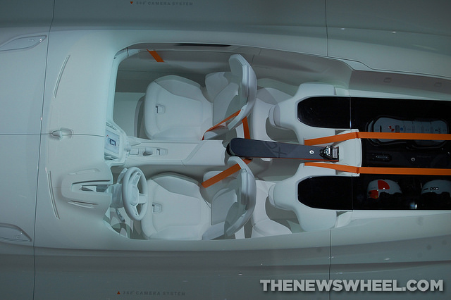 An aerial view of the Another shot of the Volvo Concept XC Coupe