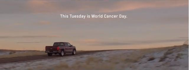 Chevrolet's World Cancer Day ad