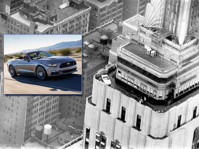 Ford Mustang at the Empire State Building
