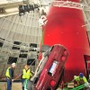 1993 Red 40th Anniversary Corvette being pulled out of sinkhole Corvettes Being Pulled