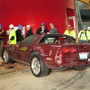 1993 Red 40th Anniversary Corvette after sinkhole disaster Corvettes Being Pulled