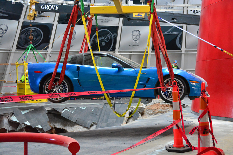 Corvettes Being Pulled