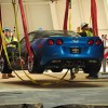 "2009 ZR1 ""Blue Devil"" lifted Corvettes Being Pulled"