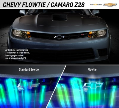 Z/28 Performance Parts does not feature flowtie
