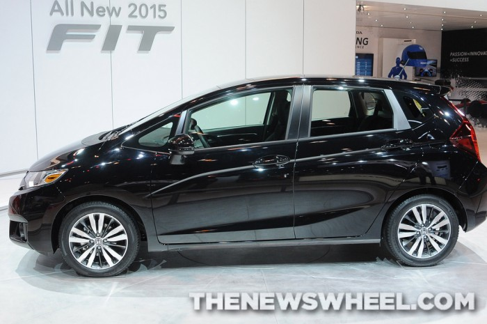 The 2015 Honda Fit in profile