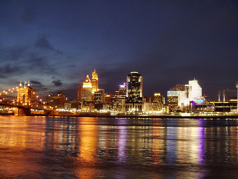 Cincinnati Skyline from Kentucky
