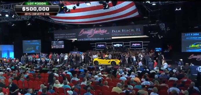 First 2015 Corvette Z06 Stingray Auction