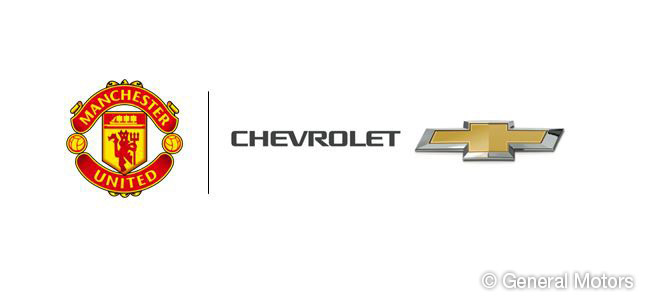 Manchester United will wear Chevrolet-branded shirts when they play Real Madrid on August 2.