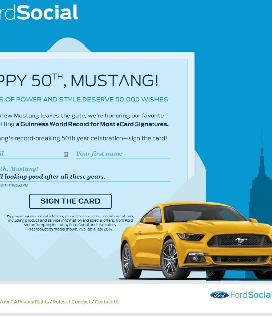 Mustang Birthday Card Wins World Record – How to Address a Birthday Card