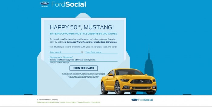 Mustang Birthday Card