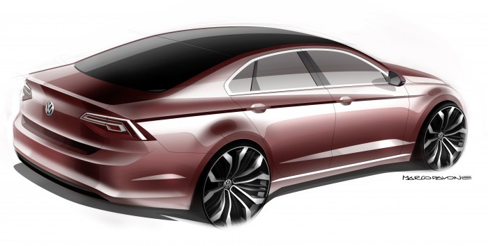 The Volkswagen New Midsize Coupé concept