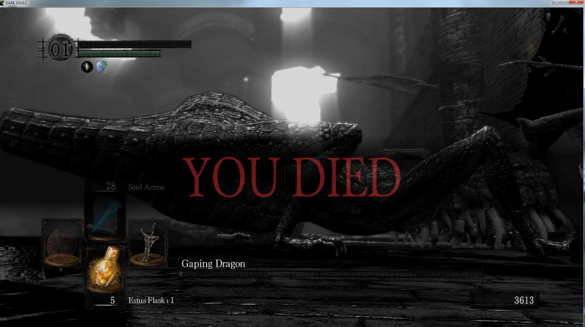 If you plan on playing Dark Souls, get used to seeing this screen. A lot.